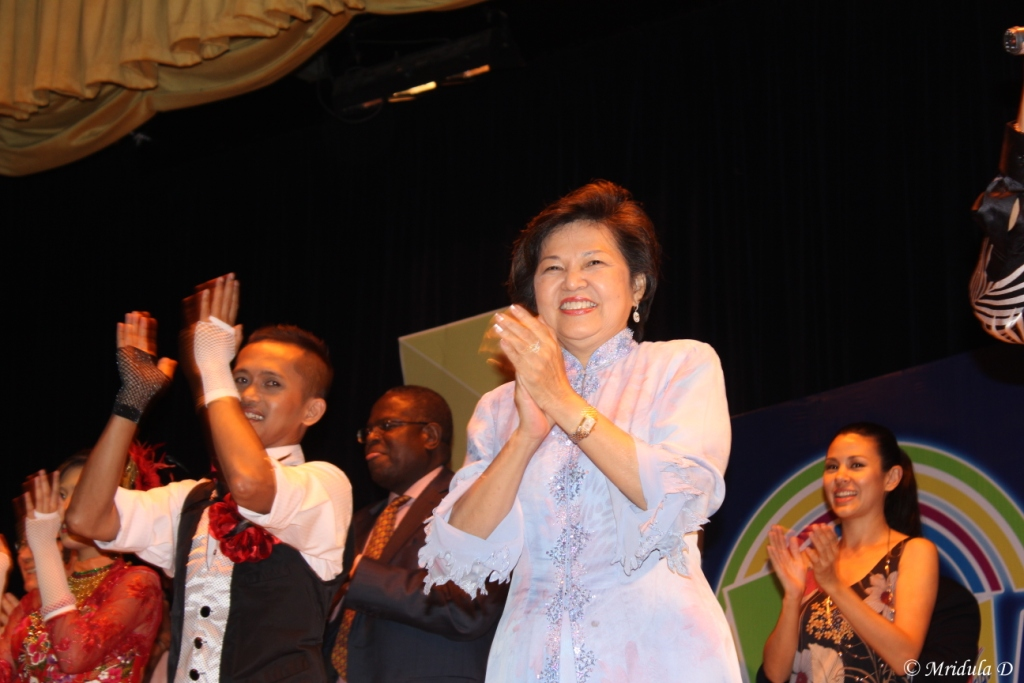 Dr. Ng Yen Yen, Minister of Tourism, Malaysia at the Gala Dinner for Bloggers Conference