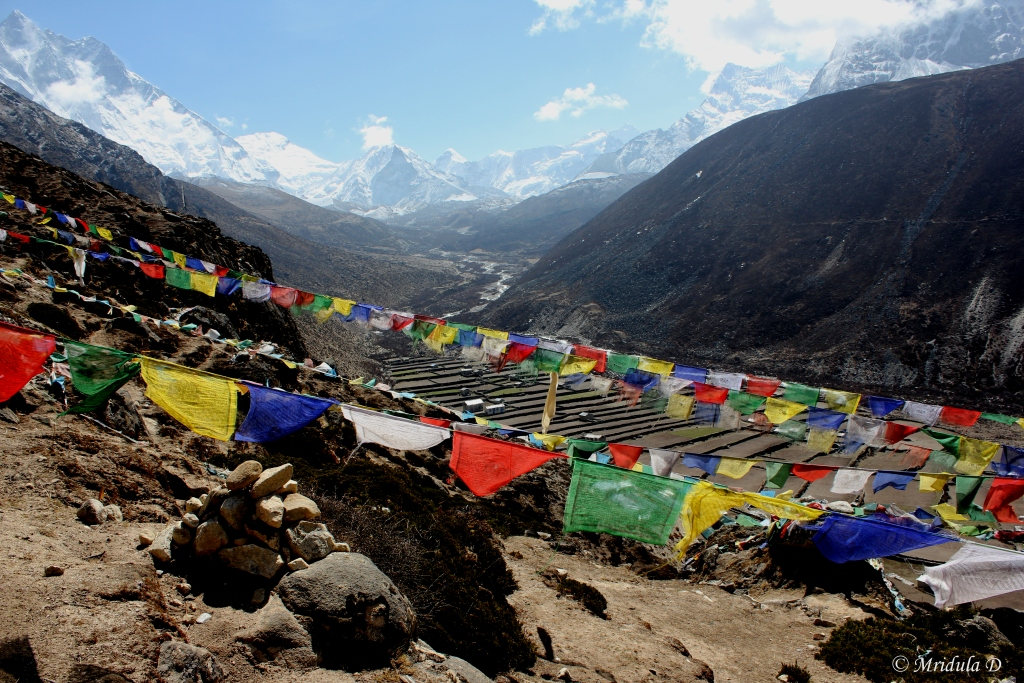 Prayer Flags around Dingboche, Everest Base Camp Trek, Nepal