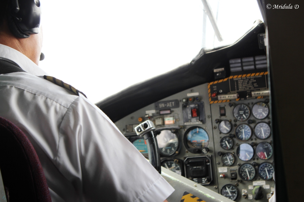 The Cockpit of the Lukla Plane