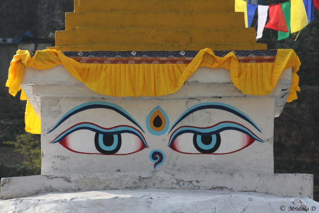 The Eyes of the Namche Stupa, Everest Base Camp Trek, Nepal