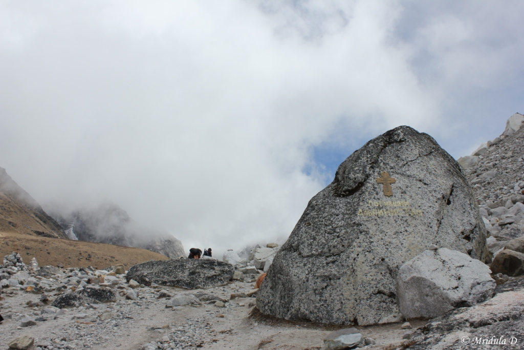 The Memorials after the Climb, Dingboche to Lobuje, Everest Base Camp Trek, Nepal