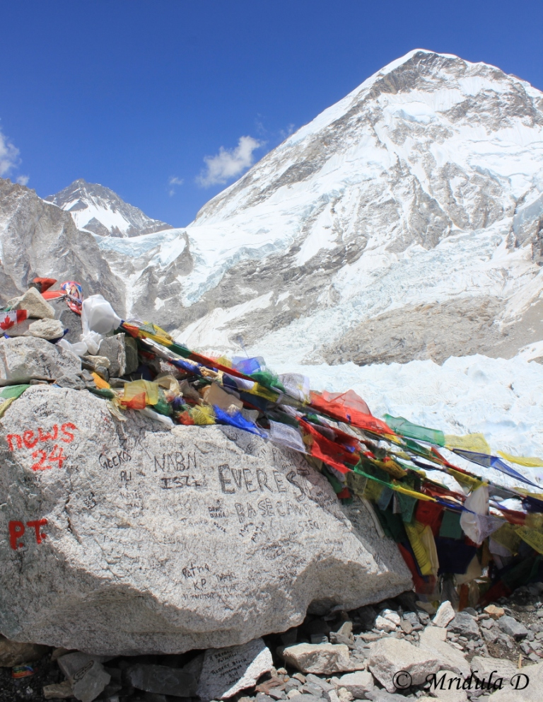 The Milestone at the Everest Base Camp