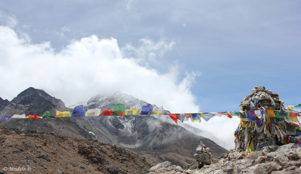 The Prayer Flags and the Chortens, Everest Base Camp Trek, Nepal