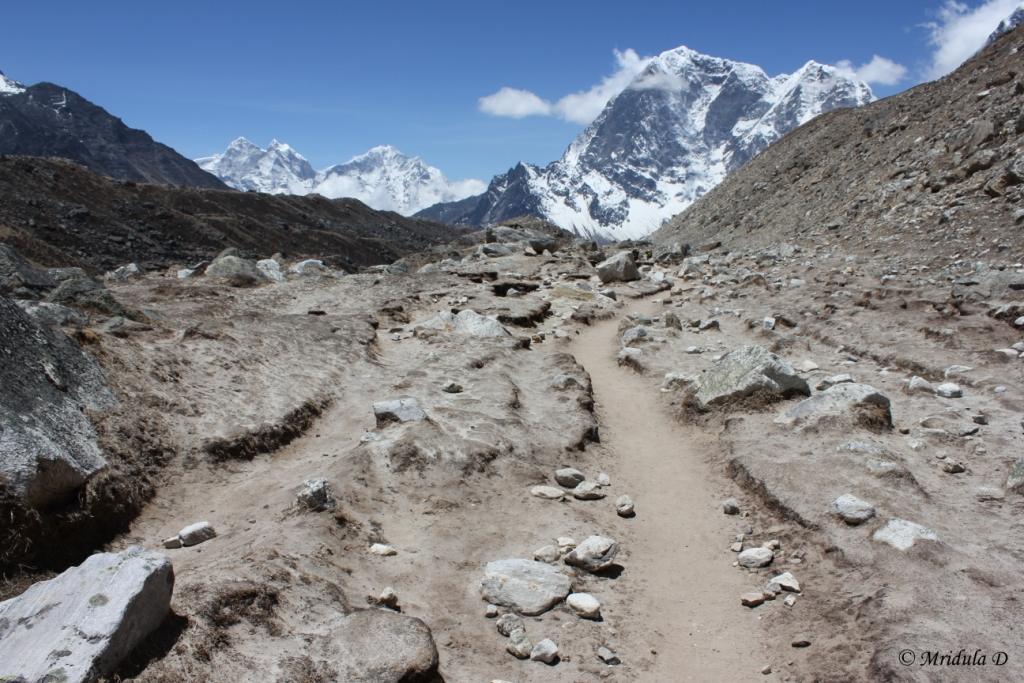 The Way from Gorek Shep to Lobuje, Everest Base Camp Trek, Nepal