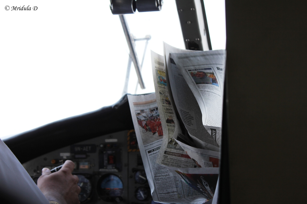 When the Pilot Started Reading the Newspaper, Lukla Flight, Nepal