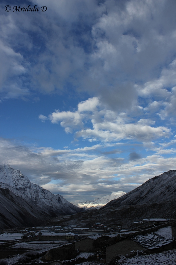 Snow and Clouds at Dingboche, Everest Base Camp Trek, Nepal