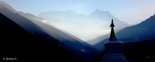 Sky at Tengboche, Everest Base Camp Trek, Nepal