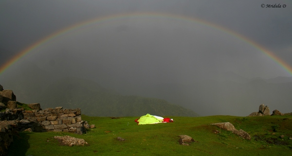 Rainbow at Triund, Himachal Pradesh