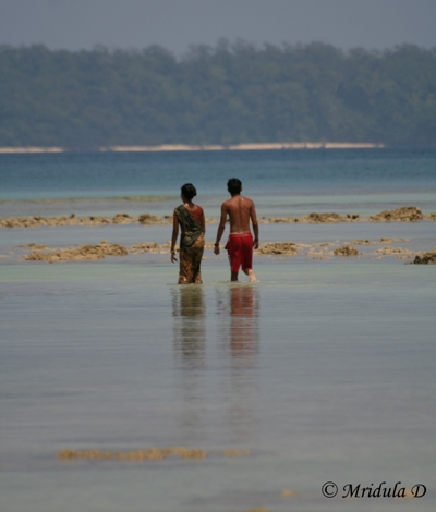 A Woman at a Beach at Havelock, Andaman Islands, India