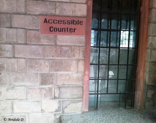 Accessible Counter at Qutub Minar was Closed the Day I Went