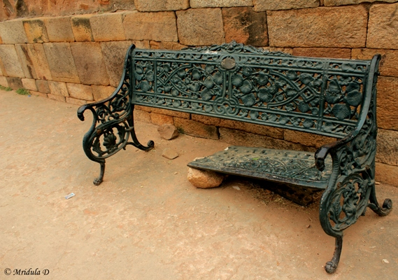 Half a Bench, Qutub Minar, Delhi, India