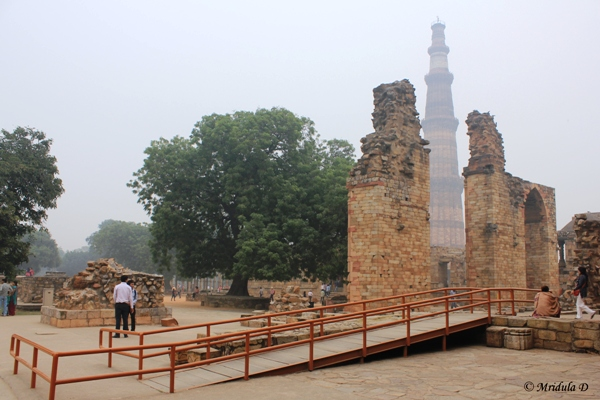 Ramp at Qutub Minar, A UNESCO World Heritage Site, Delhi