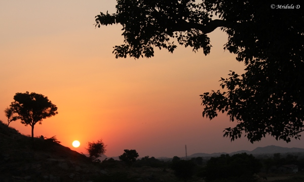 Sunset at Lakshman Sagar, Pali, Rajasthan