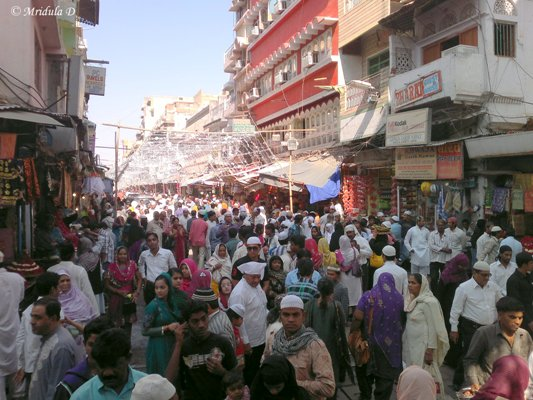 The Crowd Outside Nizam Gate, Ajmer Sharif, Rajasthan