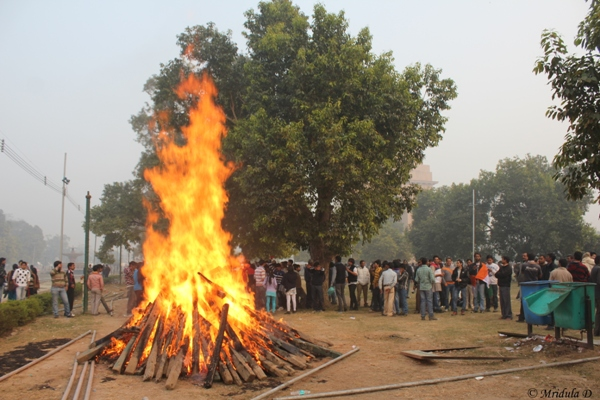 A Bit of Fire at India Gate