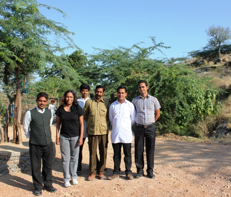 With the Staff at Lakshman Sagar