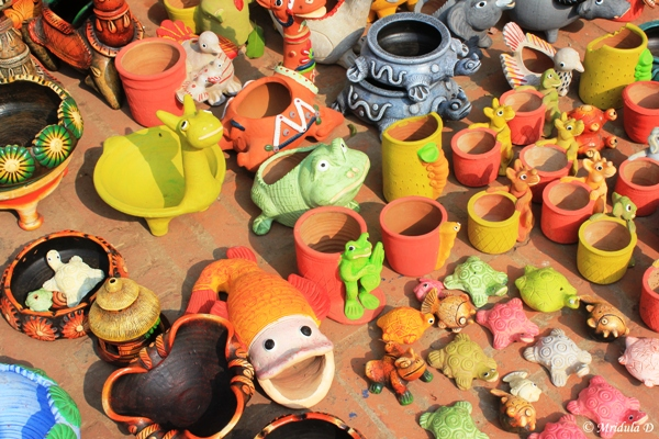 Colorful Clay Pottery, Dilli Haat