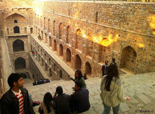 College Students at Agrasen Ki Baoli