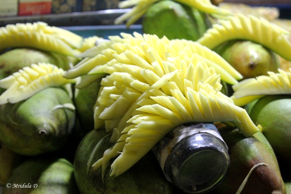 Green Mangoes and Mango Slices, Street Food, Chennai