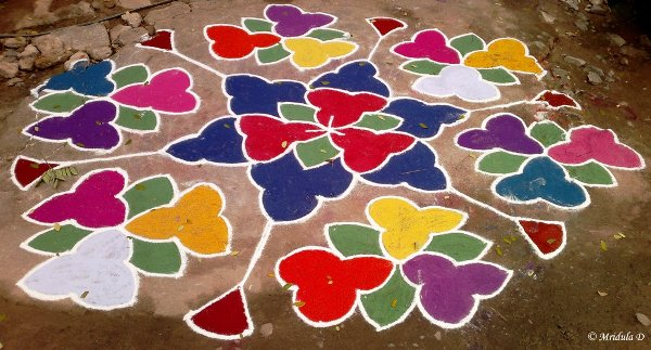 Rangoli in Front of a House, Chennai, India