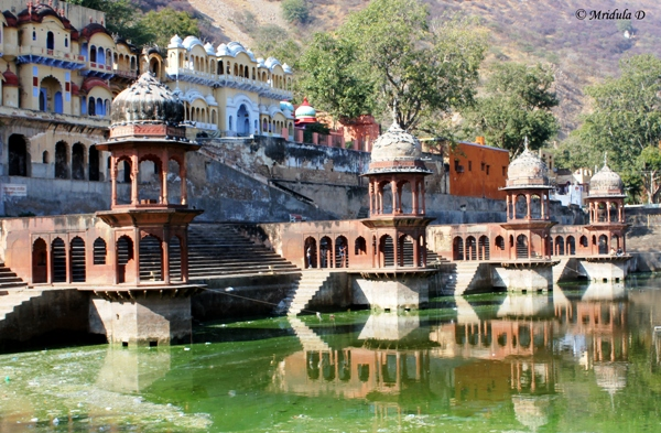 Reflections in the Water Tank, City Palace, Alwar, Rajasthan