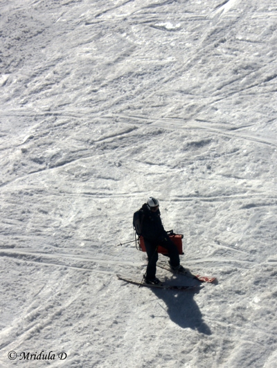 A Skiier at Gulmarg