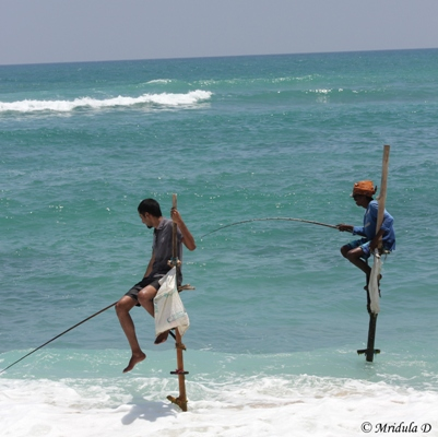 A Tourist with a Fisherman, Koggala, Sri Lanka