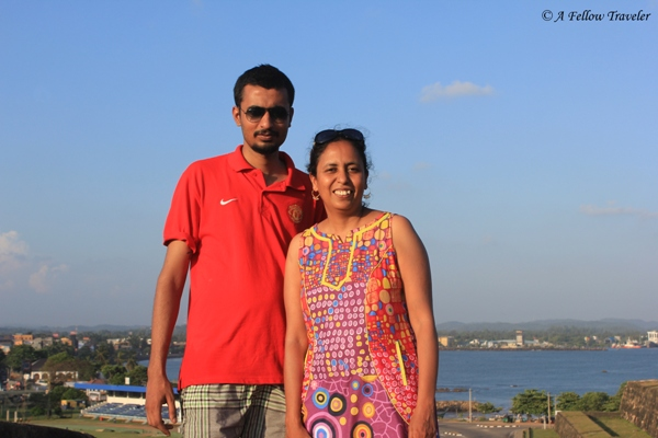 Brat 2 and I at Galle, Sri Lanka