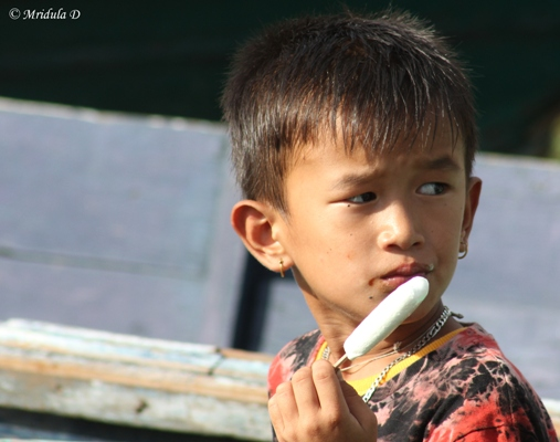 A Boy Eating Icecream