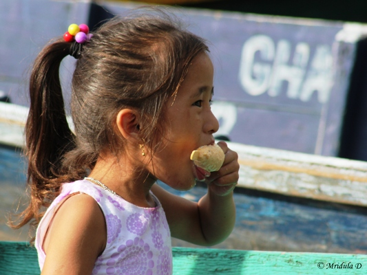 A Girl Eating Icecream