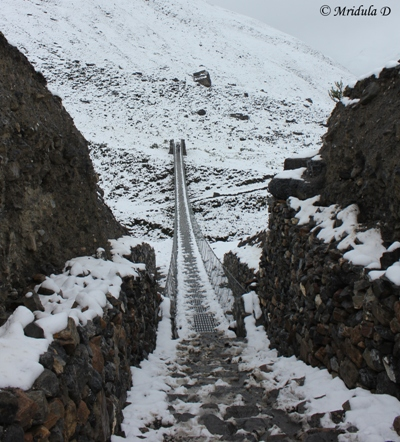 A Bridge near Letdar, Annapurna Circuit Trek, Nepal