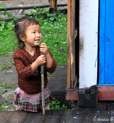 A Child at a Lodge, Annapurna Circuit Trek, Nepal