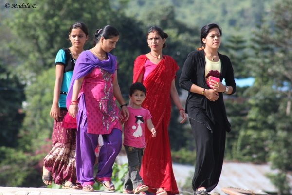 A Group of Nepali Women at Pokhara, Nepal