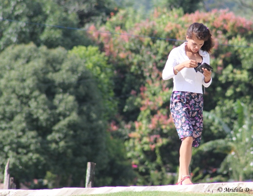 A Local Girl Busy with her Mobile, Pokhara, Nepal