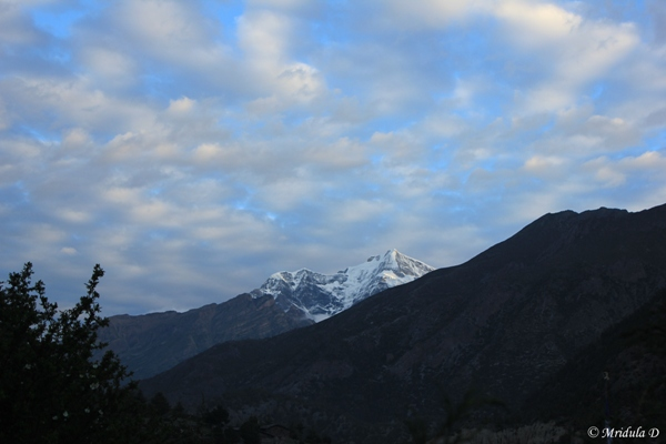 Chuli East as seen from Pisang, Annapurna Circuit Trek, Nepal