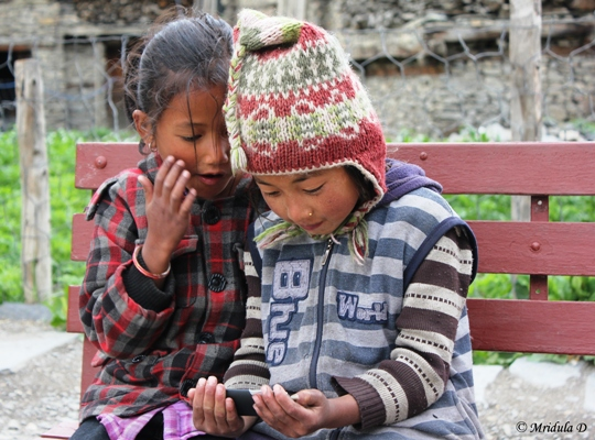 Kids at Manang, Nepal