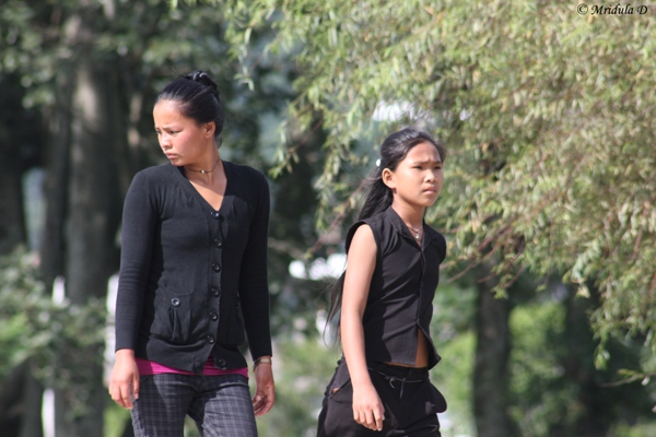 Local Girls at Pokhara, Nepal