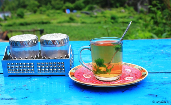 Mint Tea on the Way, Annapurna Circuit Trek, Nepal