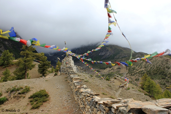 Prayer Flags above Manang, Annapurna Circuit Trek, Nepal