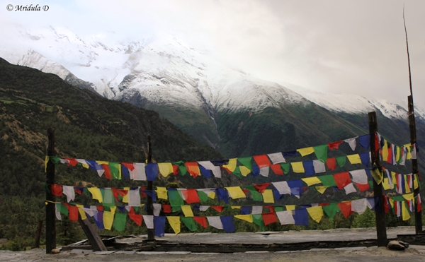 Prayer Flags at Humde, Annapurna Circuit Trek, Nepal