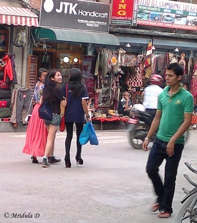 Women at Thamel, Nepal