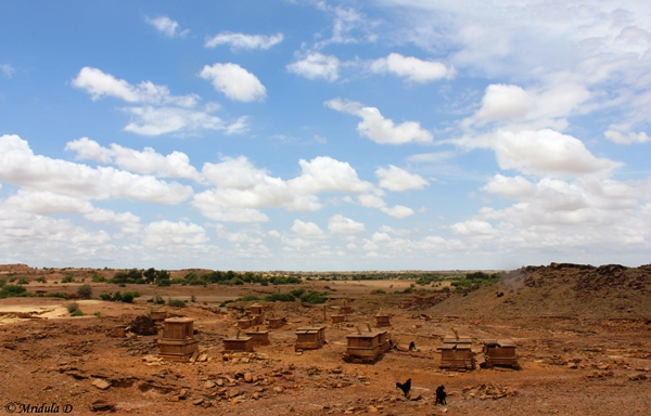 An Unmarked Cremation Site near Jaisalmer, Rajasthan