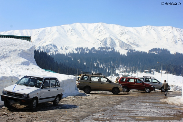 Cars at Gulmarg, Kashmir, India