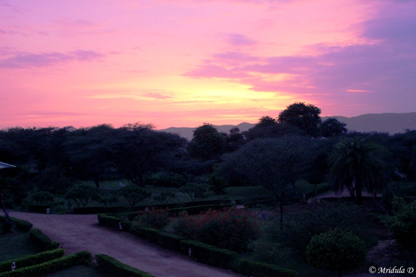 Sunset at Pushkar Resorts, Pushkar