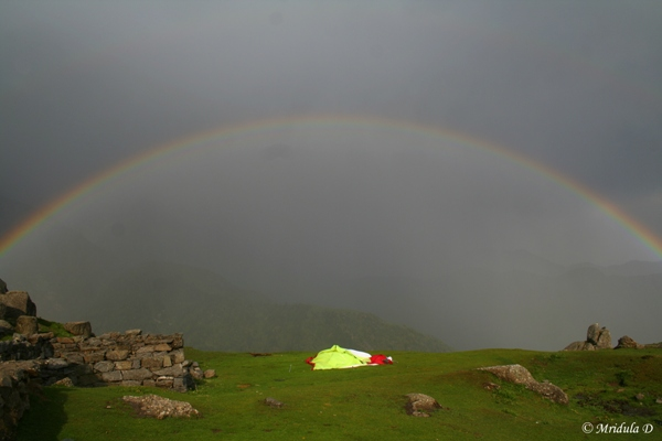 A Magnificient Rainow at Triund, Himachal Pradesh