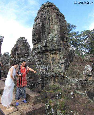 A Girl in Her Wedding Dress, Bayon, Cambodia