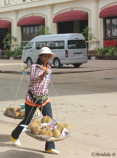 A Woman with her Proceeds near the Cambodian Border