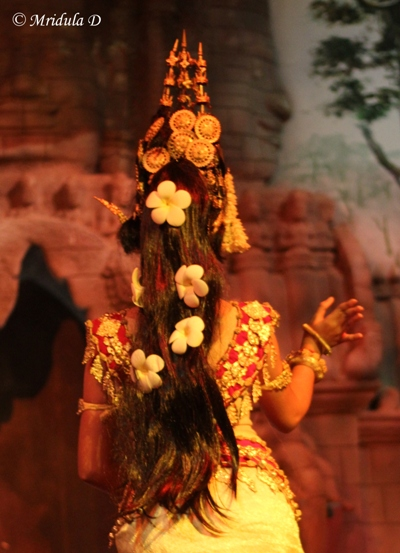 Beautiful Flowers in Her Hair, Apsara Dance, Siem Reap, Cambodia