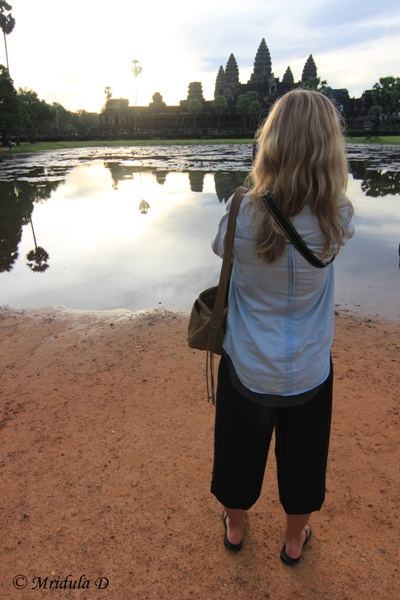 Clicking at Angkor Wat, Cambodia