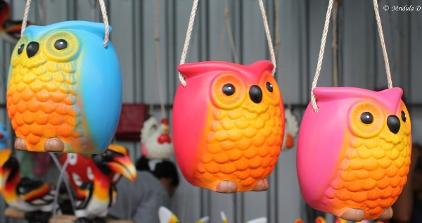 Owl Shaped Flower Pots, Taling Chan Floating Market, Bangkok